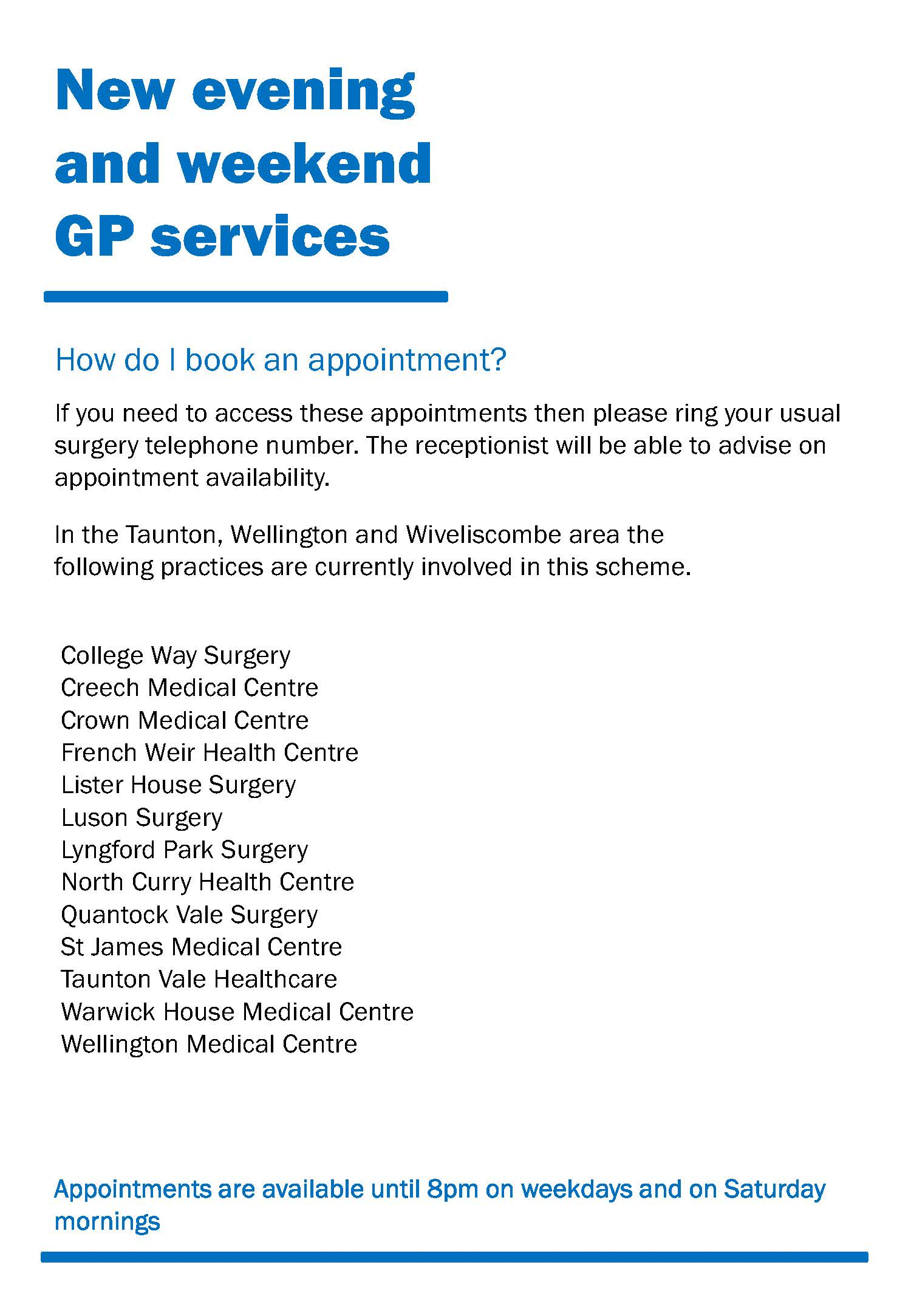 The Crown Medical Centre - Appointments
